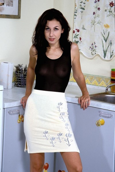 Naked wives in the kitchen